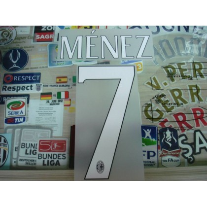 Official MENEZ #7 AC Milan Home 2014-16 Name Number