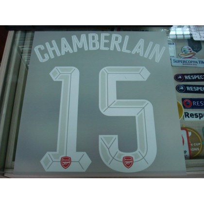 Official CHAMBERLAIN #15 Arsenal Home UCL CUP 2015-16 PRINT