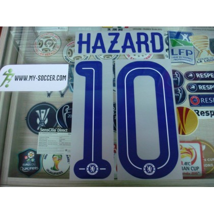 Official HAZARD #10 Chelsea Away UCL CUP 2015-17 PU PRINT