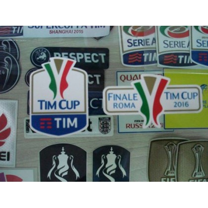 Official Italian TIM CUP Player Size 2016 + FINAL ROMA 2016 Soccer Patches