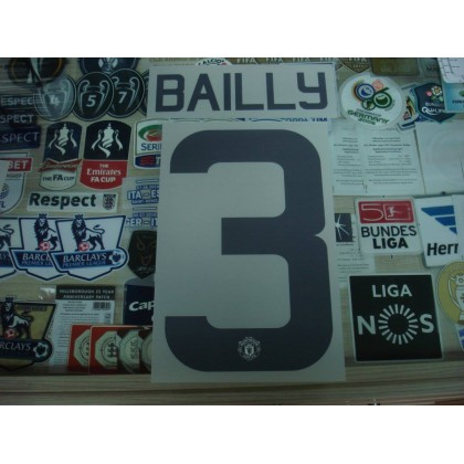 Official BAILLY #3 Manchester United 3RD EUROPA CUP 2016-17 PRINT