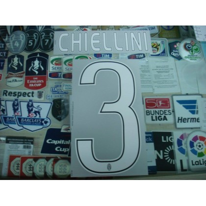 Official CHIELLINI #3 Juventus Away 2016-17 STILSCREEN Name Number