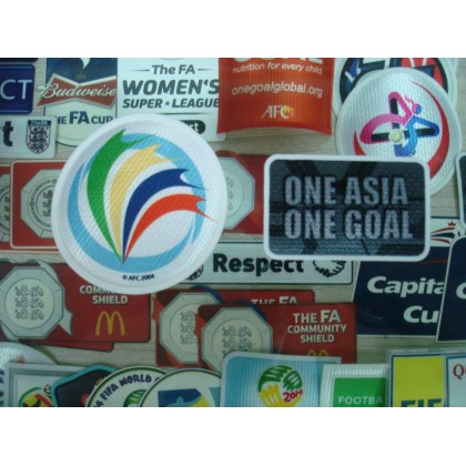 Official AFC CUP 2017 + ONE ASIA ONE GOAL LICENSED Patches