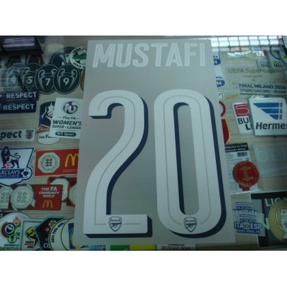 Official MUSTAFI #20 Arsenal Home UCL CUP 2016-17 PRINT