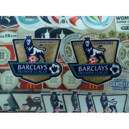 Official EPL PLAYER SIZE Manchester United Champion 2008-09 GOLD Patches