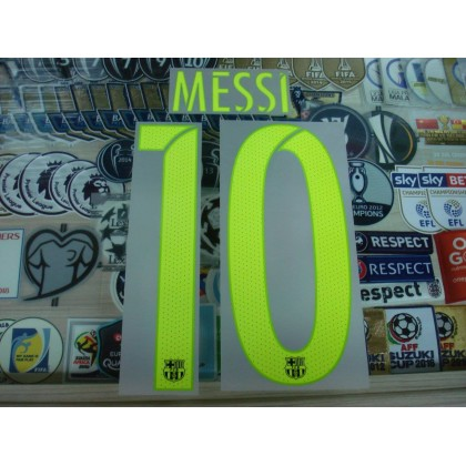 OFFICIAL MESSI #10 Barcelona 3rd UCL 2016-17 SIPESA PRINT