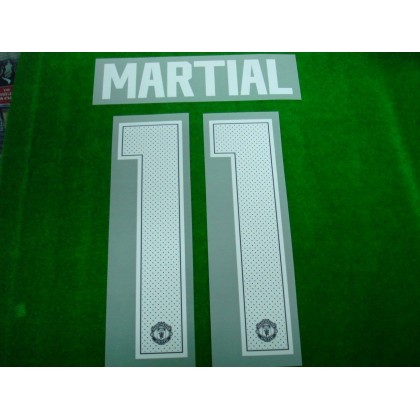 Official MARTIAL #11 Manchester United AWAY CUP 2017-18 PRINT