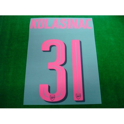 Official KOLASINAC #31 Arsenal 3rd CUP 2017-18 PRINT