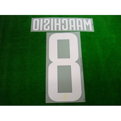 Official MARCHISIO #8 Juventus Football Club Away 2017-18 PRINT