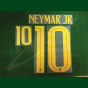 Official NEYMAR JR #10 Brazil Away WORLD CUP 2018 PRINT