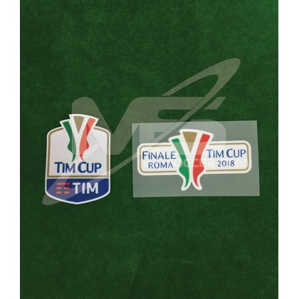 Official Italian TIM CUP Player Size 2018 + FINALE ROMA 2018 Soccer Patches