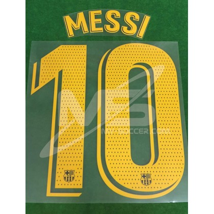 OFFICIAL PLAYER ISSUE MESSI #10 FC Barcelona Home 2019-20 PRINT