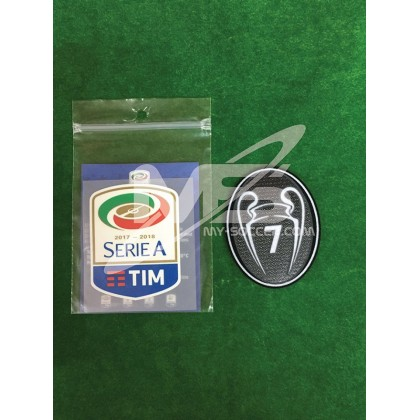 Official AC MILAN SERIE A TIM Player Size 2017-18 + BOH 7 Patch