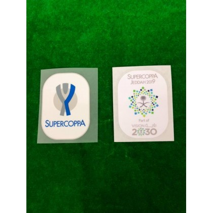 Official Italian SUPERCOPPA + SUPERCOPPA JEDDAH 2019 Patches