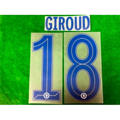 OFFICIAL GIROUD #18 Chelsea Away CUP UCL 2019-20 PRINT