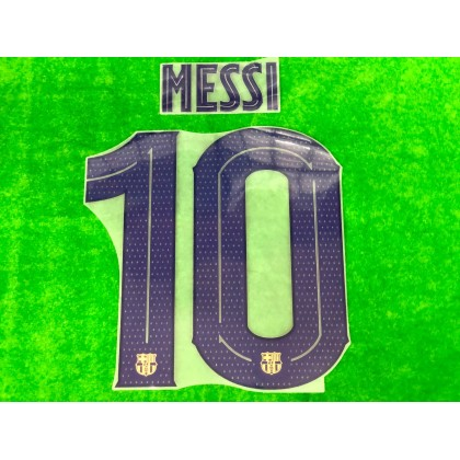 OFFICIAL PLAYER ISSUE MESSI #10 FC Barcelona Away UCL 2019-20 PRINT