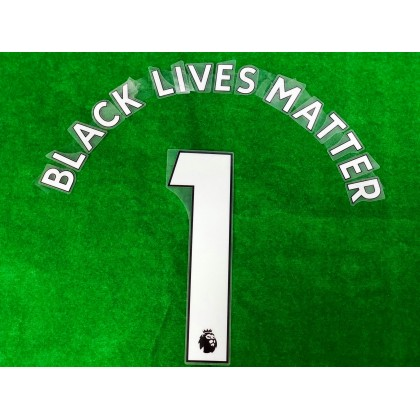 Official BLACK LIVES MATTER EPL WHITE PRINT