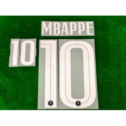 Official MBAPPE #10 France FFF Home 2020-21 PRINT