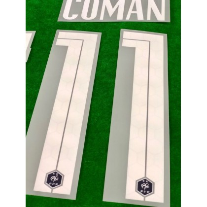 Official COMAN #11 France FFF Home 2020-21 PRINT