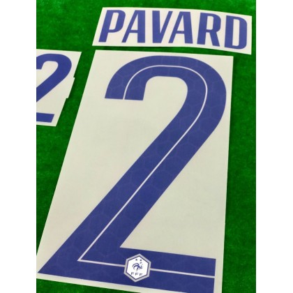 Official PAVARD #2 France FFF Away 2020-21 PRINT