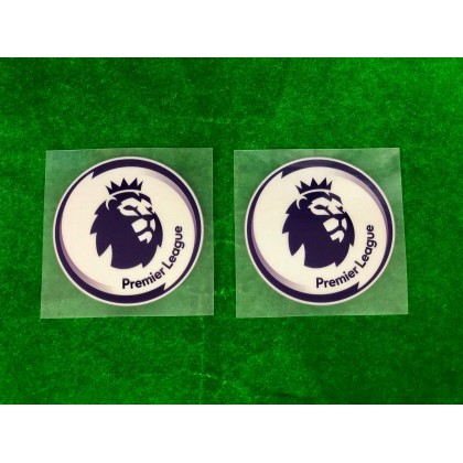 Official English Premier League EPL 2020-21 PLAYER SIZE WHITE Patches (1 pair)