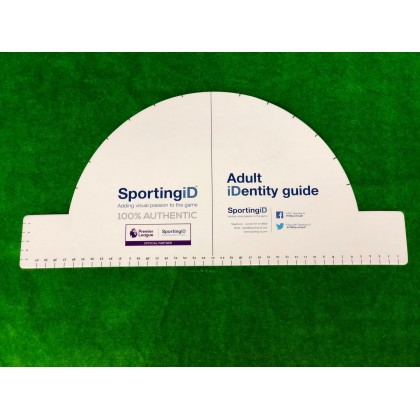 Official Sporting ID Measurement Ruler Guide (Player and Adult measurement)