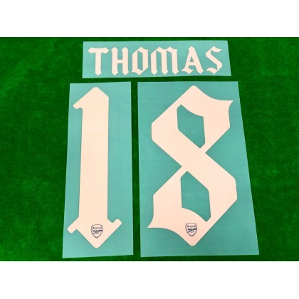 Official THOMAS #18 Arsenal FC 3rd CUP 2020-21 PRINT