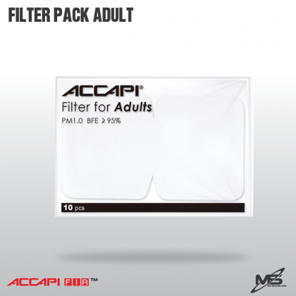 ACCAPI 001693 Filter Pack for Adults (10 pcs)