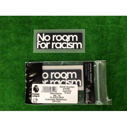 Official EPL + NO ROOM FOR RACISM 2020-21 PLAYER SIZE Patches