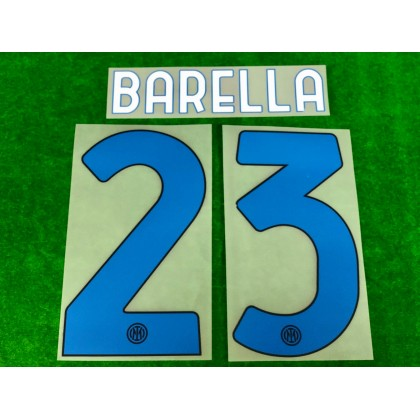 Official BARELLA #23 Inter Milan 4th 2020-21 PRINT