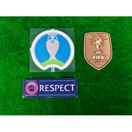 Official Player Issue France FFF Away UEFA EURO 2020 Patches