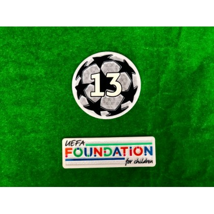 OFFICIAL UCL STARBALL BOH 13 + UEFA FOUNDATION FOR CHILDREN Real Madrid CF PATCHES